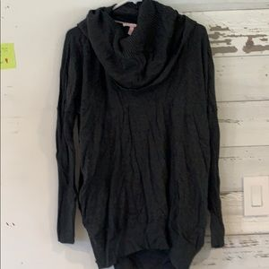 Dark grey cowlneck sweater NWOT